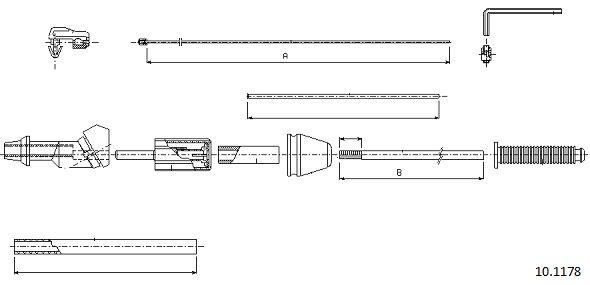 Cable d'accelerateur CABOR 10.1178 (X1)