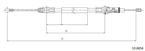 Cable de frein à main CABOR 10.6854 (X1)