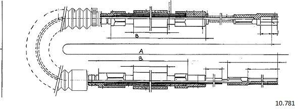 Cable de frein à main CABOR 10.781 (X1)