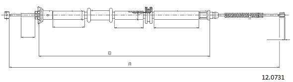 Cable de frein à main CABOR 12.0731 (X1)