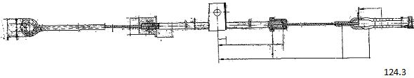 Tirette de starter CABOR 124.3 (X1)