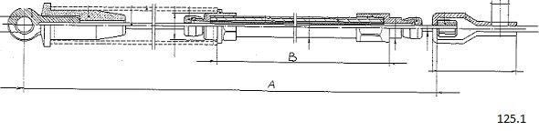 Tirette de starter CABOR 125.1 (X1)