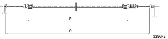 Cables de commande CABOR 1286P2 (X1)