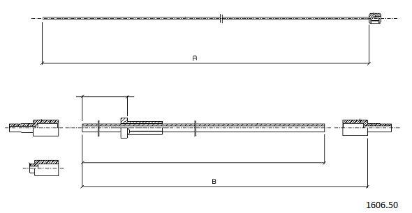 Cables de commande CABOR 1606.50 (X1)