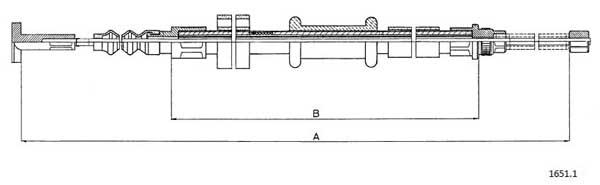 Cable de frein à main CABOR 1651.1 (X1)
