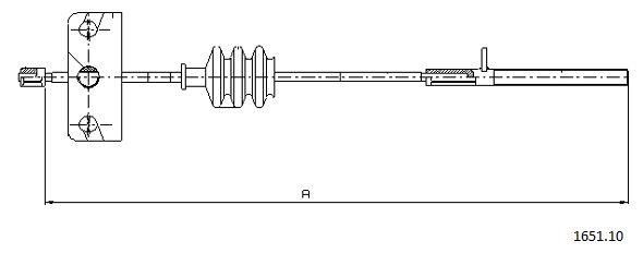 Cable de frein à main CABOR 1651.10 (X1)