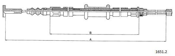 Cable de frein à main CABOR 1651.2 (X1)