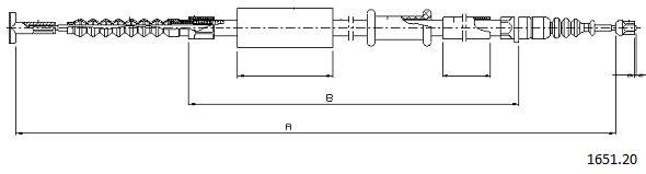 Cable de frein à main CABOR 1651.20 (X1)