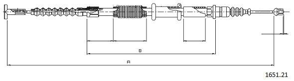 Cable de frein à main CABOR 1651.21 (X1)