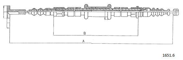 Cable de frein à main CABOR 1651.6 (X1)