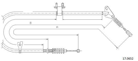 Cable de frein à main CABOR 17.0652 (X1)
