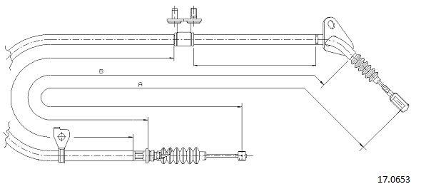 Cable de frein à main CABOR 17.0653 (X1)