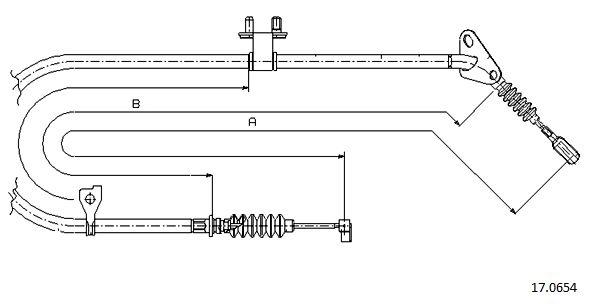 Cable de frein à main CABOR 17.0654 (X1)