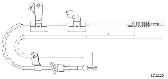 Cable de frein à main CABOR 17.2120 (X1)