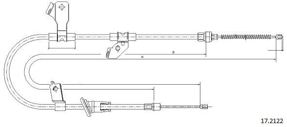 Cable de frein à main CABOR 17.2122 (X1)