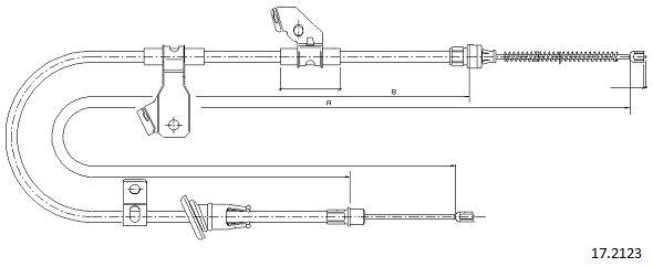 Cable de frein à main CABOR 17.2123 (X1)