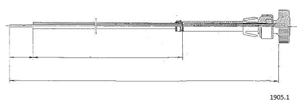 Tirette de starter CABOR 1905.1 (X1)