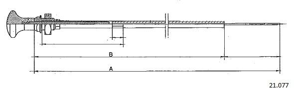 Tirette de starter CABOR 21.077 (X1)