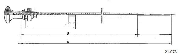 Tirette de starter CABOR 21.078 (X1)