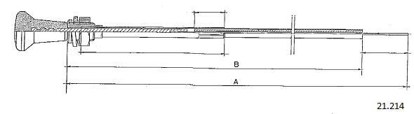 Tirette de starter CABOR 21.214 (X1)