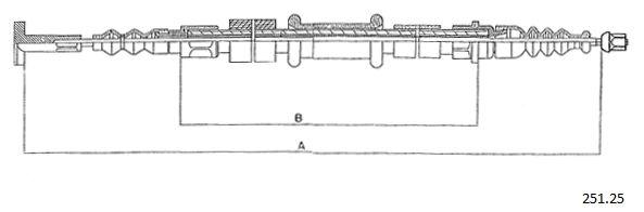Cable de frein à main CABOR 251.25 (X1)