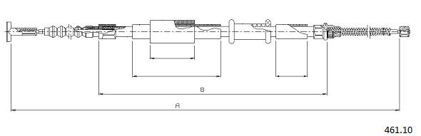 Cable de frein à main CABOR 461.10 (X1)