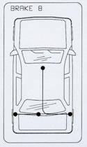Cable de frein à main CABOR 10.780 (X1)