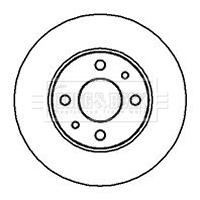 Disque de frein BORG & BECK BBD4001 (X1)