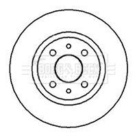Disque de frein BORG & BECK BBD4002 (X1)