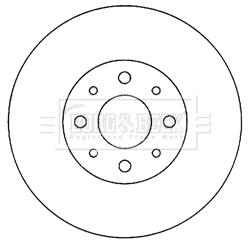 Disque de frein avant BORG & BECK BBD4055 (X1)