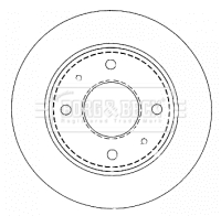 Disque de frein arriere BORG & BECK BBD4478 (X1)