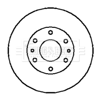 Disque de frein arriere BORG & BECK BBD5123 (X1)