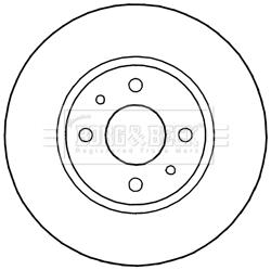 Disque de frein avant BORG & BECK BBD5242 (X1)