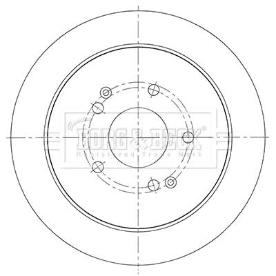 Disque de frein arriere BORG & BECK BBD5453 (X1)