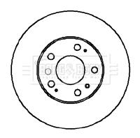 Disque de frein arriere BORG & BECK BBD5855S (X1)