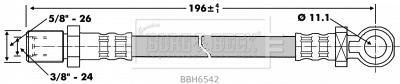 Hydraulique embrayage BORG & BECK BBH6542 (X1)