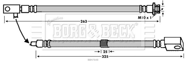 Flexible de frein BORG & BECK BBH7648 (X1)