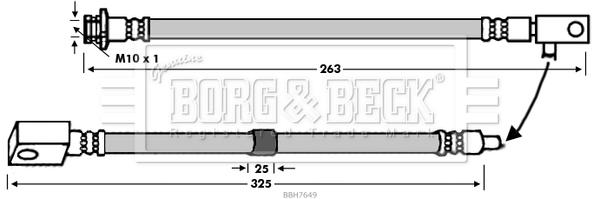 Flexible de frein BORG & BECK BBH7649 (X1)