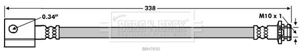 Flexible de frein BORG & BECK BBH7650 (X1)