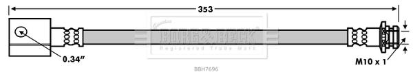 Flexible de frein BORG & BECK BBH7696 (X1)