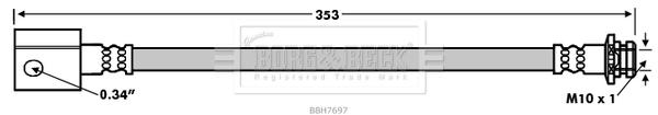 Flexible de frein BORG & BECK BBH7697 (X1)