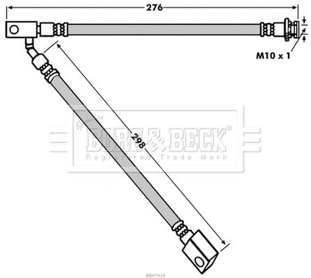 Flexible de frein BORG & BECK BBH7918 (X1)