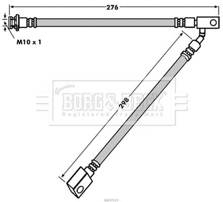 Flexible de frein BORG & BECK BBH7919 (X1)
