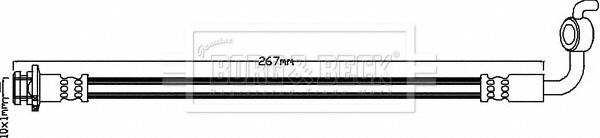 Flexible de frein BORG & BECK BBH8348 (X1)