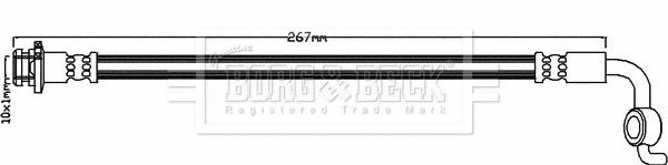 Flexible de frein BORG & BECK BBH8349 (X1)
