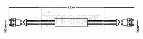Flexible de frein BORG & BECK BBH8813 (X1)