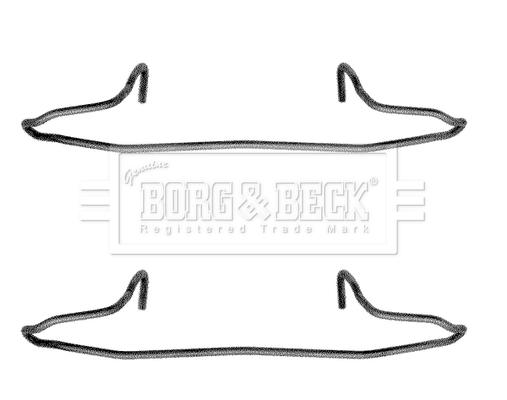 Kit de montage plaquettes de frein BORG & BECK BBK1040 (X1)