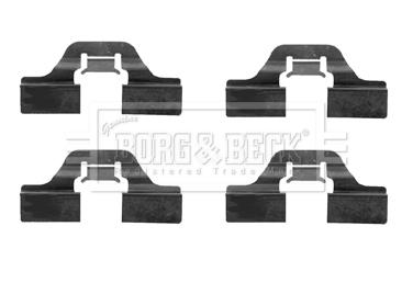 Kit de montage plaquettes de frein BORG & BECK BBK1203 (X1)
