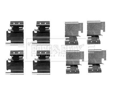 Kit de montage plaquettes de frein BORG & BECK BBK1209 (X1)