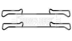 Kit de montage plaquettes de frein BORG & BECK BBK1219 (X1)